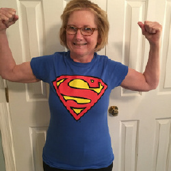 It felt great to be Superwoman, even if it was for a few hours.