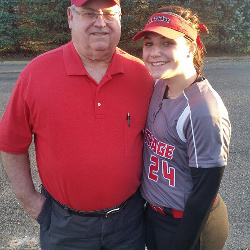 Just wanted to share this picture of my grandpa and I. He has always been one of my biggest cheerleaders on and off the field and now I get to be his in this big fight of his