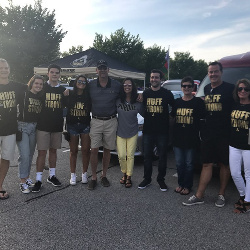 Thanks to the Wagners and MIllers for a great HUFFSTRONG tailgate at PU vs. Northwestern game!!!
