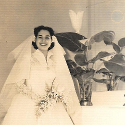 Edilia on her wedding day in 1952