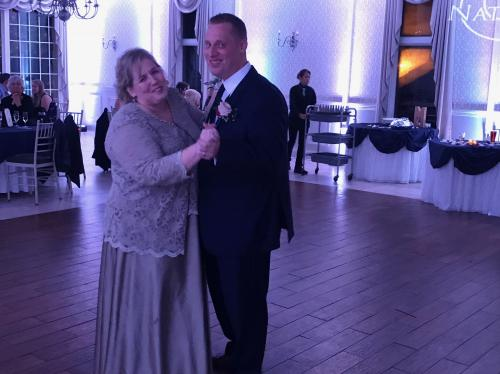 Mother of the groom, dancing at the wedding! It was only one dance and the groom was mostly holding me up, but I did it!!