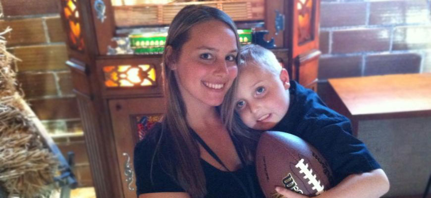 Nikki Pierson with her son Gavin, celebrating the holidays despite a brain tumor diagnosis