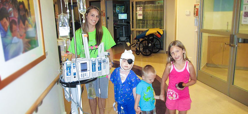 Gavin hangs out at the hospital as he heals from surgery to stop his Intracranial Growing Teratoma Syndrome.