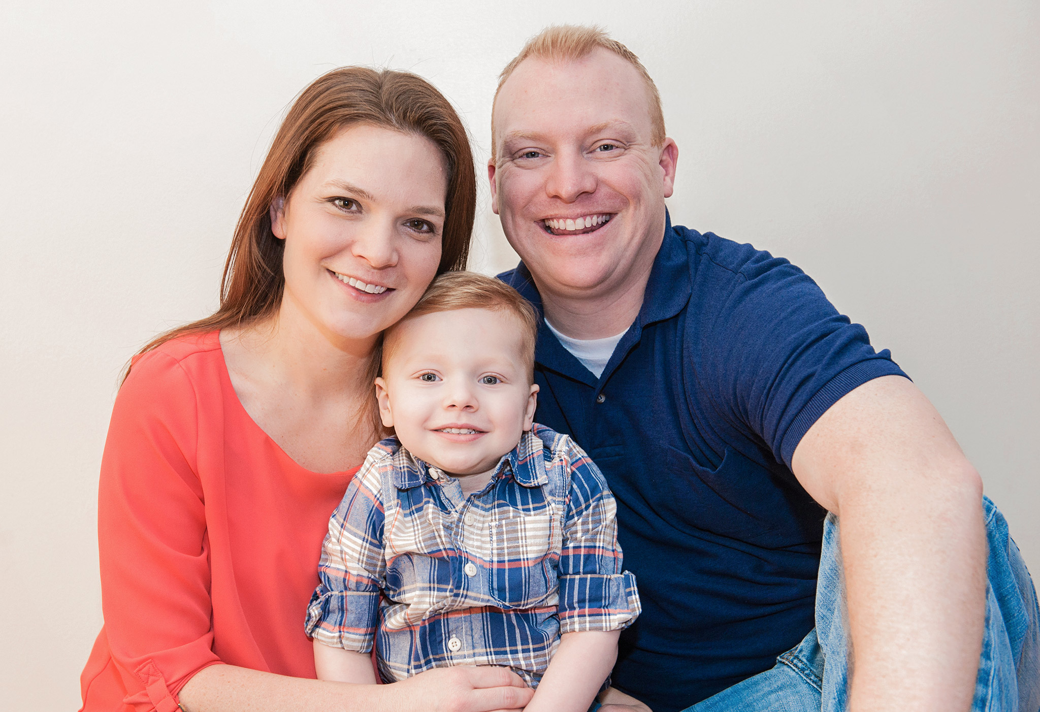 Katie and Mike with their son Will
