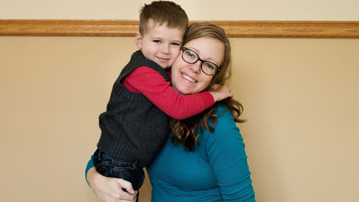 Molly Sturgis and son, Telly.